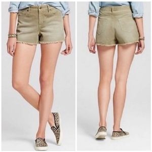 3/$30 Mossimo Olive Corduroy High Rise Shorts 2